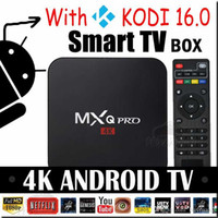 Wholesale MXQ Pro K upgrades Amlogic S905X android GB GB MXQpro Quad Core kodi fully loaded smart hdmi media player Support Iptv