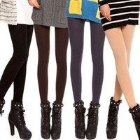 Polyester arrival leggings socks - New arrival Women Velvet Pantyhose Female Bottoming Leggings color chaussette femme calcetines mujer solid meia