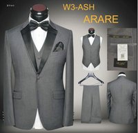 ash wedding dress - 5 pieces Suits Set Slim Fit Men Ash Party Tuxedos Dropship High Quality Wedding Suits Dress with Vest