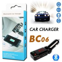 bc player - BC06 Bluetooth MP3 Car Charger BT Wide Use Wireless Music Player BC Support TF Card Speaker Mini Dual Ports Charging AUX FM Transmitter
