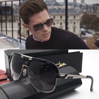 amber big - new vintage sunglass Germany designer CZ986 sunglasses steampunk style men brand deisnger square big frame metal muti color plated top
