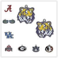 alabama state sports - 30pcs Enamel NCAA University Of Alabama Kentucky Ohio State Team Logo Charm Accessory For Jewelry Making H103922