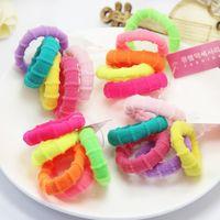 bamboo towel ring - Based elastic rope BB hair color double color bamboo towel ring set sales in children