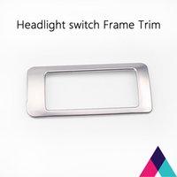 achat en gros de interrupteur des phares automatique-Fit pour Mazda CX-5 2015 Auto Headlight Switch Frame Cadre de rangement Cadre Silver Trim ABS Plaquage