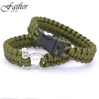 Wholesale Stainless Steel Buckle Paracord Bracelet for Men Women One Line Weave Bracelet Emergency Survival Bracelet