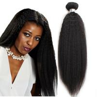 al por mayor remy pelo trenzado yaki-Indio indonesio mongol brasileño brasileño remy trama de pelo humano para las mujeres negras yaki cabello de trenzado recto