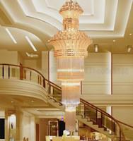 big crystal chandelier lamp - Newly Big crystal chandelier LED candle holder lamps modern long large chandeliers villa living room hanging Light MYY