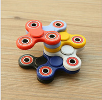 Wholesale New Black Tri Spinner Fidgets Toy Plastic EDC Sensory Fidget Spinner For Autism and ADHD Kids Adult Funny Anti Stress Toys
