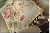 Wholesale Wool handmade Aubusson Pillow BLUE PINK Shabby French Chic Rose Decorative Bed Chair Sofa Cushion Cover X12