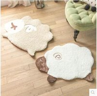 Wholesale 2017 new Creative cartoon children bedroom carpet bed room bed rug cute soft sheep household multi functional pad carpet