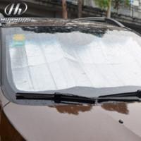 Carbon Fiber Vinyl Film auto dashboard covers - Car foldable reflective shades Auto Windshield Sunshade Sun Shade Windshield Visor Dashboard Cover Block Heat Reflective