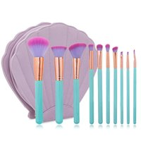 Wholesale NEW set Spectrum MAKEUP BRUSH SET Professional Luxury Make Up Tools Kit Powder Makeup Brushes With Shell Cosmetic Bag