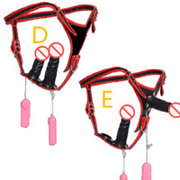 adult x games - Strap On Dildo Anal Plug New in1 Electric Wearable Penis Double headed Harness Vibrators Penis Adult Game Toys for Women C3