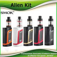 Wholesale Authentic SMOK Alien W Starter Kit Alien Box MOD whit ml TFV8 Baby Beast Tank V8 Baby Q2 Baby T8 Coil genuine DHL Free