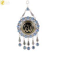 al por mayor la joyería colgante de metal-CSJA Nueva musulmanes al por mayor de metal redondo colgantes Pendulum pared colgante árabe Amuleto religioso regalos religiosos Oriente Medio Eid E290