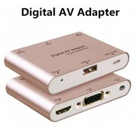 apple tv av adapter - Byloly Aluminum Alloy Multifunction Conversion Phone PC to HDMI HDTV TV VGA Video Audio Digital AV Adapter for iphone Samsung