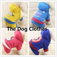 animal clothing company - Professional pet supplies Manli brand company multicolor optional four legged clothing US captain blue hair strange little yellow KT pet dog
