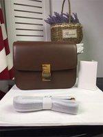 bean bag boxes - superior quality Classic Box Retro package version of fine leather stripes bean bag diagonal cross airline stewardess leather handbag