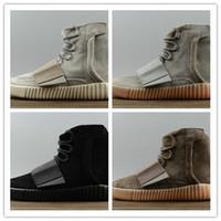 Aumento al por mayor caliente de Kanye al por mayor 750 hombres negros de los zapatos corrientes de las mujeres de los hombres que envían libremente tamaño los EEUU 5 11 calzan la mejor calidad de la zapatilla de deporte