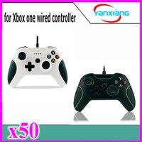 Blanco xbox palanca de mando Baratos-Palanca de mando de Gamepad del color de la alta calidad 50pcs + Cable para Windows Xbox un USB ató con alambre el regulador YX-OEN-03