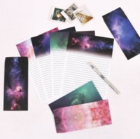 beautiful writing paper - set sheet letter paper envelopes Beautiful starry sky Letter pad Set set writing paper Office School Supplies