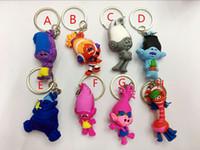 Wholesale high quality Trolls Movie Set cm Dreamworks Figure Collectible Dolls Poppy Branch Biggie PVC Figures Doll Toy Trolls key chain
