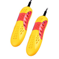 Wholesale 220V W Race car shape voilet light shoe dryer foot protector boot odor Deodorant device shoes drier heater