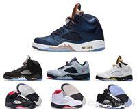 bean boots - 2016 Cheap Retro V OG Black Metallic Basketball Shoes Silver Bin Space jam Green Bean Mark Ballas Trainers Boots Sneaker