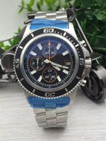 Wholesale Top brand watch Luxury Mens quartz chronograph steel bracelets watches for men more color watch wristwatch BL03