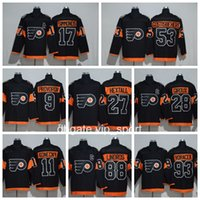 2017 Stade Série Flyers Jerseys Philadelphie 9 Ivan Provorov 11 Travis Konecny ​​27 Ron Hextall 88 Eric Lindros Ice Hockey Maillots Noir