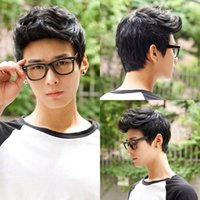 adult hair wave - 2016 Handsome Sunshine Men s Wigs Colors Roll Quiff Short Synthetic Hair Fashion Boy Curly Natural Wig Cosplay Male Wig