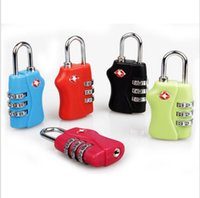 Wholesale Customs Luggage Padlock TSA338 Resettable Digit Combination Padlock Suitcase Travel Lock TSA locks by DHL