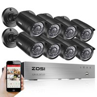 Kit caméra cctv dvr Prix-ZOSI 8CH DVR 720P HDMI Système de vidéosurveillance Enregistreur vidéo 8PCS 1280TVL Home Security Waterproof Night Vision Camera Surveillance Kits
