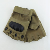 Wholesale Tactical Gloves Men Climbing Bicycle Half Finger Army Gloves Gym Training Anti slip Outdoor Camp Sports Gloves M L XL