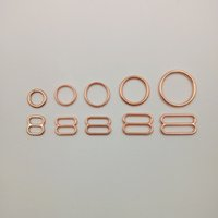 Wholesale Various size of bra rings and sliders sets in rose gold