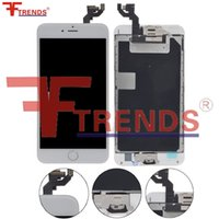 Alta calidad AAA para el iPhone 6S más pantalla del LCD Pantalla táctil Digitalizador Full Assembly + Home Button + Front Camera + Ear Speaker Shield Plate
