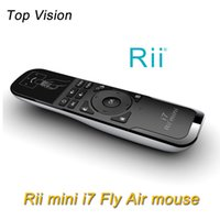 air free video - Genuine Mini Fly Air Mouse Rii i7 G Wireless Gaming Smart Remote Control for pc android tv box X360 PS3 PC