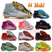 Wholesale New mens high ankle fooTball boots CR7 MerCurial supErfly IV V FG soCcer shoes maGista II soCcer cleAts HyperVenom nEymar IC TF