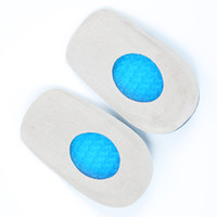 anti fatigue insoles - Silicone Gel feet Cushion Foot Heel Elastic Care Half Insole Shoe Pad With Cloth Anti fatigue