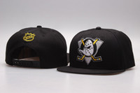 Wholesale Anaheim Mighty Ducks cap ice hockey snapback hat sports fashion men gorras baseball bones Character caps