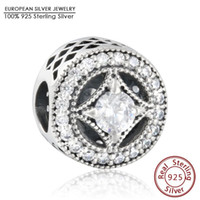 Wholesale Vintage Allure Openwork Charm Beads For Jewelry Making Sterling Silver AAA CZ Beads Fit Pandora Bracelets DIY Accessories