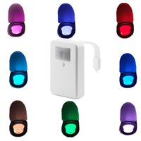 Wholesale Toilet Night Lights Motion Activated Toilet Bowl NightLight with Colors Changing Light Detector Motion Sensor