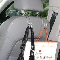 auto visor accessories - 4 Metal Car Coat Hanger Auto Seat Headrest Clothes Jackets Suits Holder Visor Accessories bag Organizer Holder Hook Hanger
