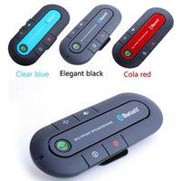 Wholesale Bluetooth hands free car speaker For Stereo bluetooth car Kit Speaker Phone Visor Clip Bluetooth Car Kit