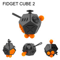 active relief - Magic Cube Fidget Cube toy with Degree Active Rocker Fidget Cube II Anxiety Stress Relief Focus sides Dice for Adults Children Gift