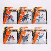 Wholesale 14pcs Matchbox Aircraft Model mini model toys Plastic metal miniatures Fighter Plane Helicopter Model Toys good kids toys