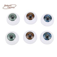 Wholesale 3 Pairs Doll eyes MM Real Like Reborn Doll Eyeball Brown Blue Grey Blue Colors Half Round Eyes