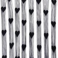 bamboo door screens - LHLL Fringe Rope Heart Screen door curtain Black