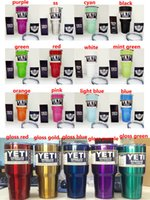 Wholesale 800ml Yeti oz YETI Coolers cups oz powder Coated stainless steel YETI Rambler Tumbler Travel Vehicle Beer Mug Bilayer oz cup