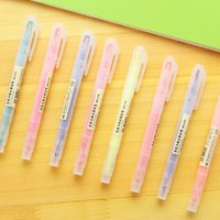 Wholesale Double Side Fluorescent Pen Highlighter Point Marker For Imagine Bookmark Stationery Office Accessories School Supply